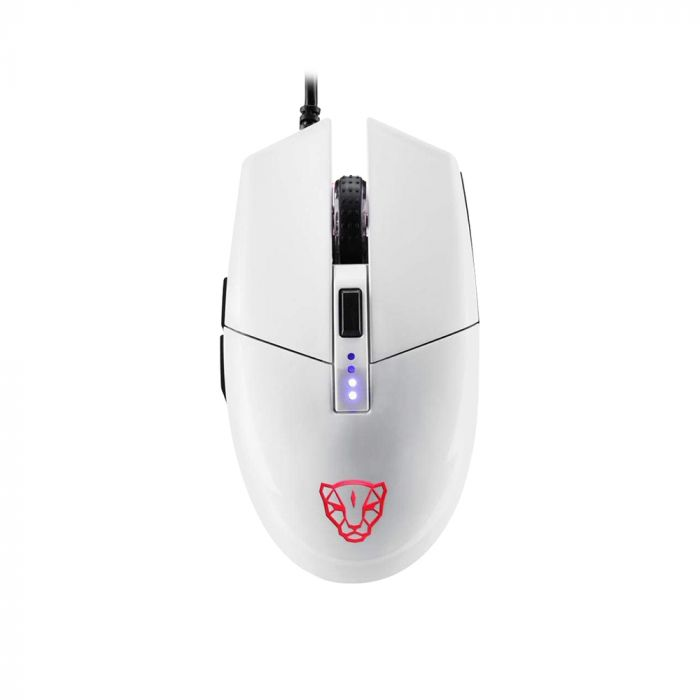 Mouse Gamer Motospeed V50 Branco RGB Com Macro
